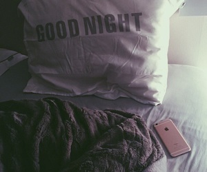 bed, cozy, and pillow image