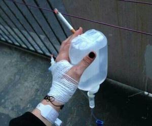 cigarette, smoke, and sad image
