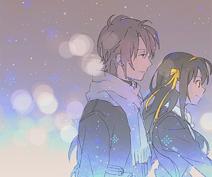anime, winter, and snow image