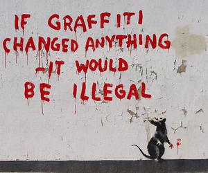 graffiti, BANKSY, and art image