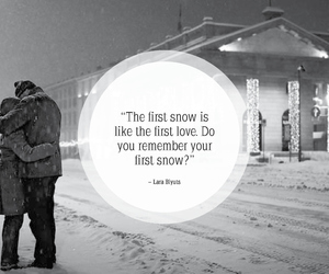 snow, december, and quote image