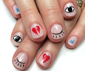 nails, heart, and eyes image