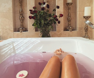 bath, comfortable, and relax image