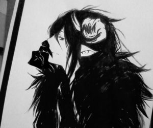 demon, dessin, and deviantart image