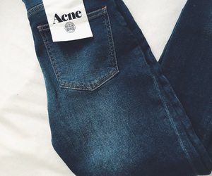 acne, blue, and blue jeans image
