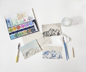 art, watercolor, and craft image