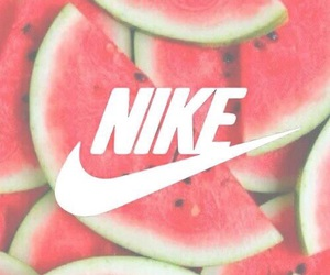 nike, watermelon, and fruit image