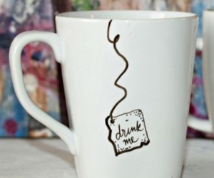 drink, tea, and cup image