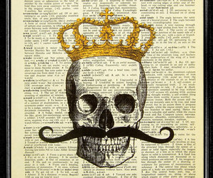 art, crown, and moustache image