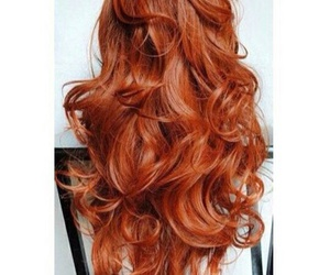 hair, beautiful, and red image