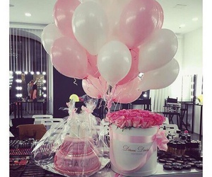 rose, balloons, and pink image