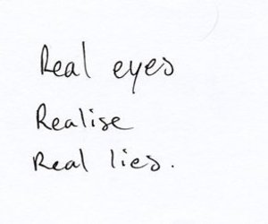 quote, eyes, and lies image