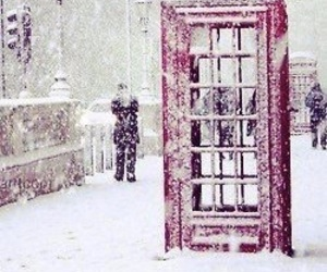 snow, winter, and london image