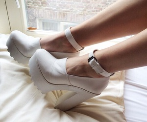 aesthetic, white, and heels image