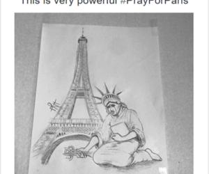 paris, prayforparis, and france image