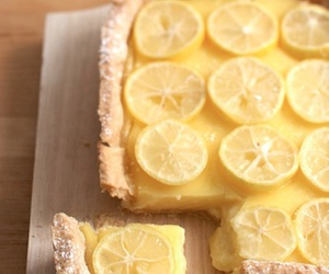 lemon, pie, and food image