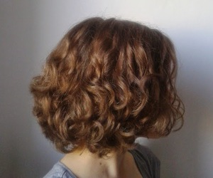 curly, hair, and short image