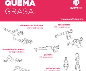 fitness, rutina, and ejercicios image
