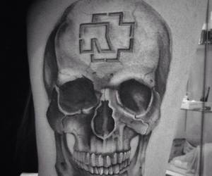 my, rammstein, and skull image