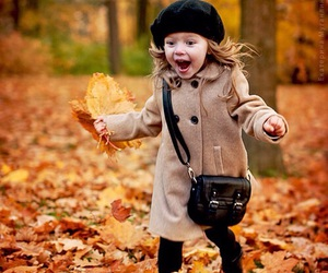 autumn, kids, and baby image