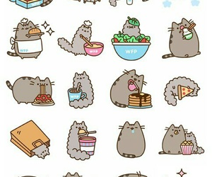 cat, pusheen, and food image