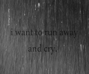 cry, sad, and run image