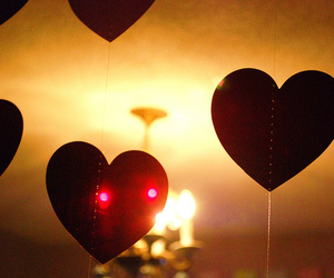 hearts, lights, and love image