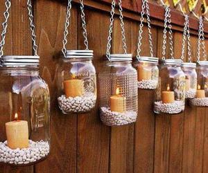 candle, diy, and jar image