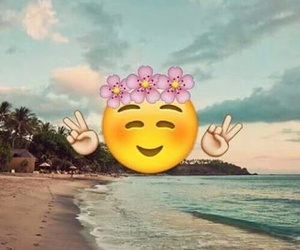 emoji, beach, and summer image
