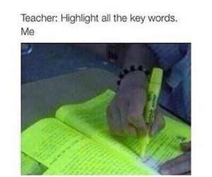 funny, school, and highlight image