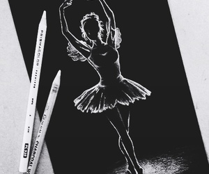 art, drawing, and dance image