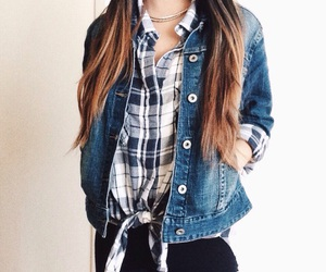 fashion, flannel, and hair image