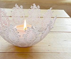 candle, christmas, and lace image