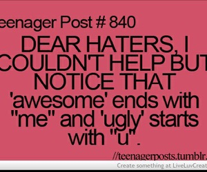 funny, awesome, and haters image