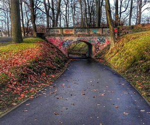 bridge, city, and grafiti image