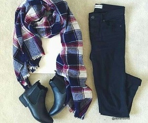 booties, scarf, and outfit image