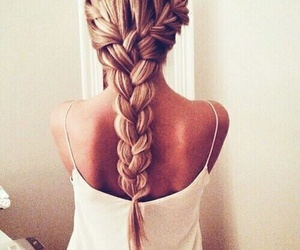 long, blonde, and braid image