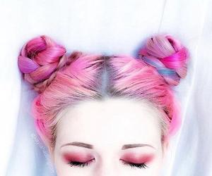 pink, hair, and tumblr image
