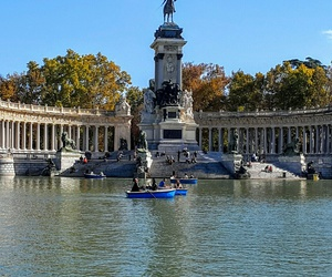 couples, pond, and madrid image