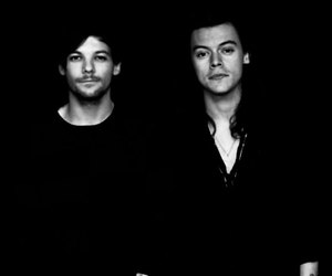 Harry Styles, larry, and louis tomlinson image