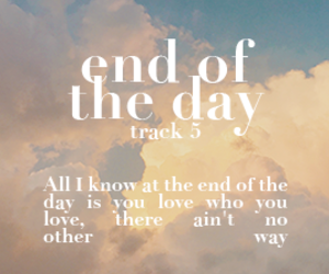 edit, Lyrics, and end of the day image