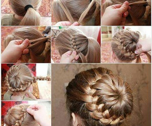chignon, coiffure, and simple image