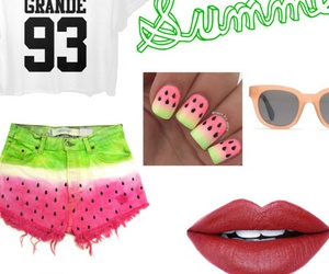 lips, nails, and shorts image