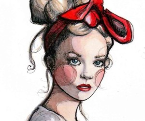 bow, fashion, and drawing image
