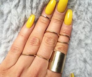 nails, rings, and yellow image