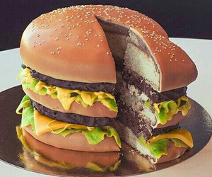 cake, food, and burger image