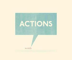 Action, words, and quote image