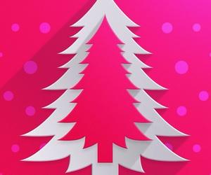 wallpaper, christmas, and pink image