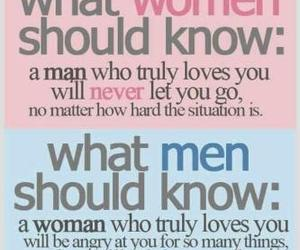 love, woman, and men image
