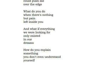 poem, quote, and sad image